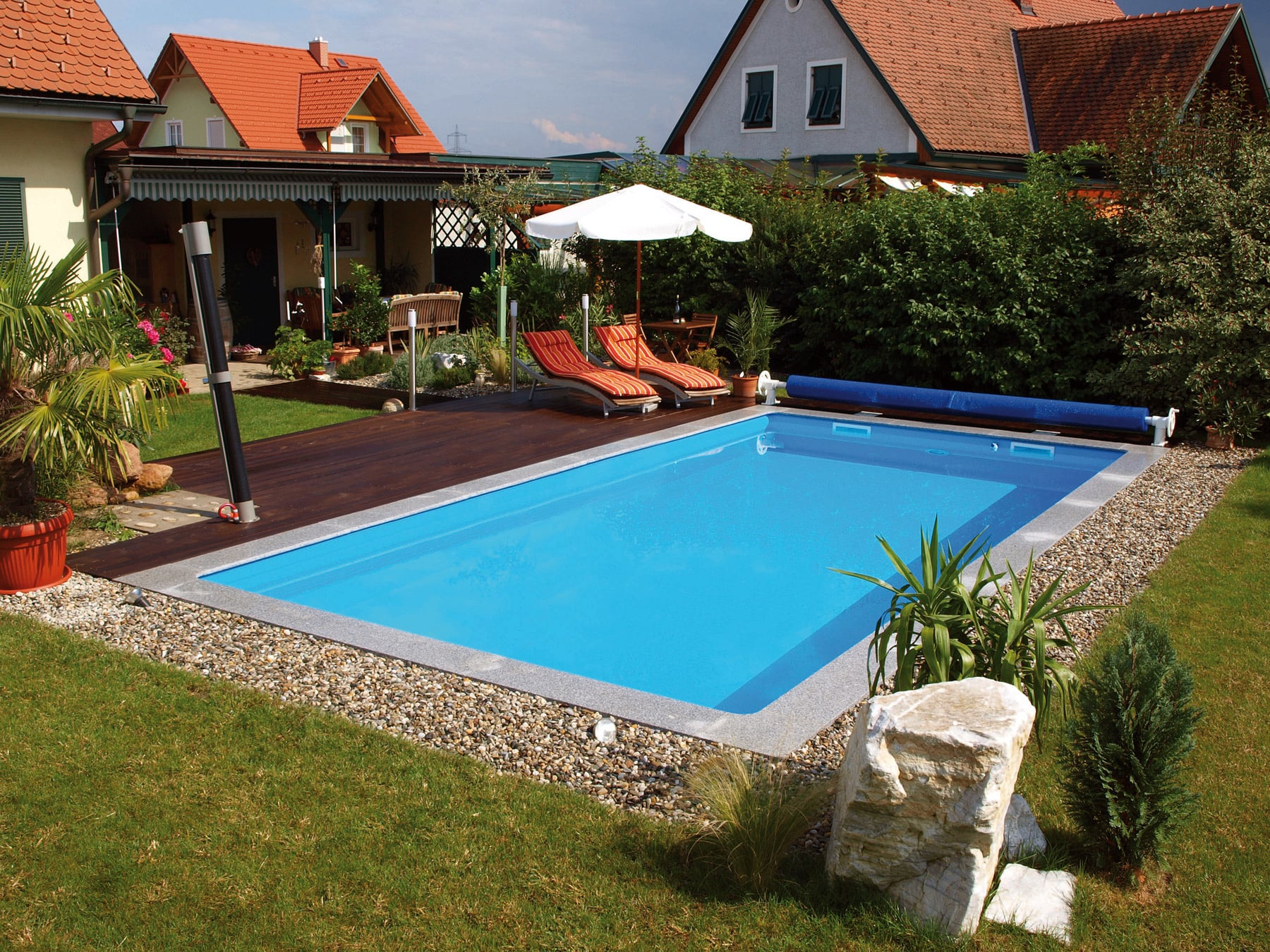 Pool Komplettset Amazon Öko Pool Komplettset Basic 700 X 350 X 150 Cm