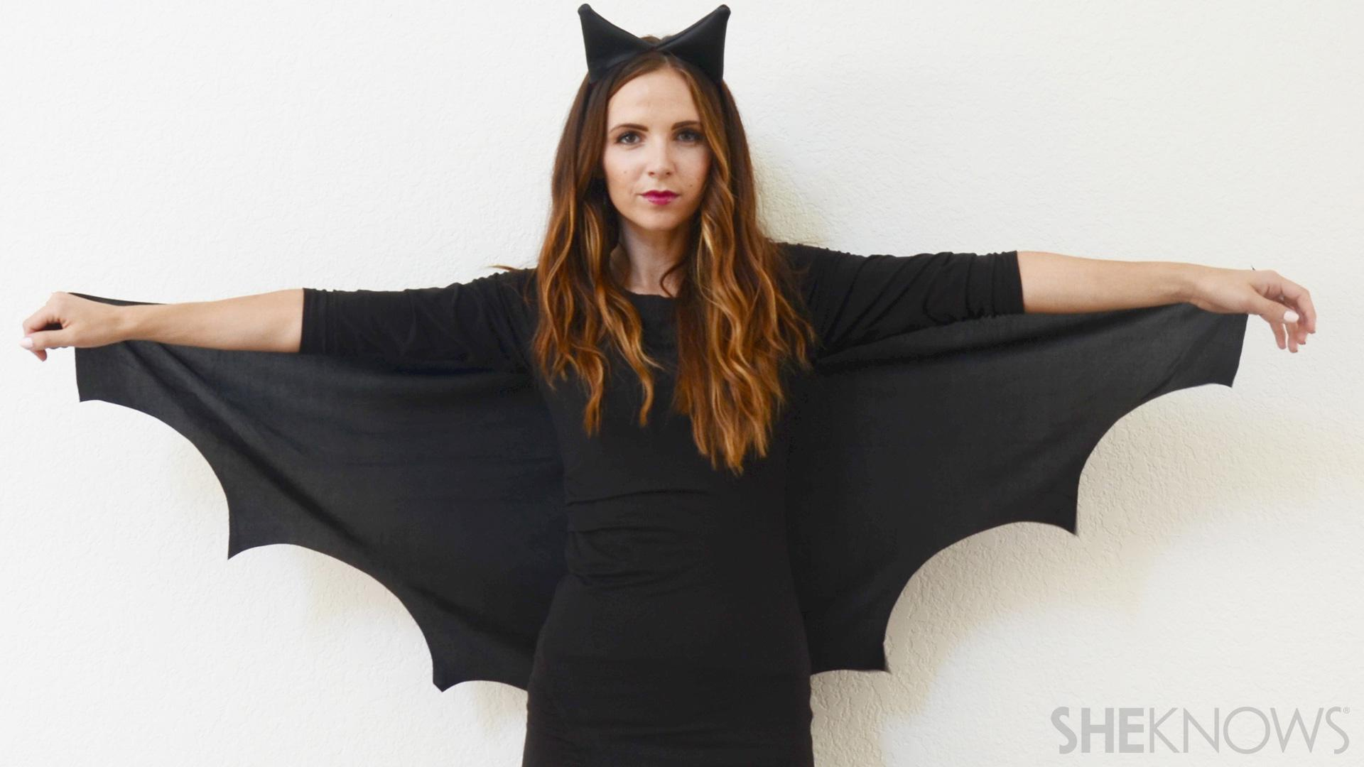 Selfmade Wohnideen Diy Bat Halloween Costume For Ladies Short On Time