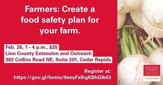 Linn County Farm Food Safety Plan Workshop at ISU Extension and
