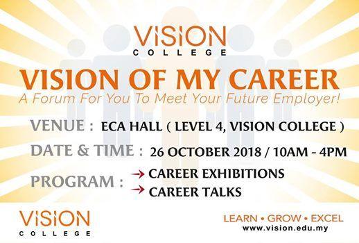 Vision of My Career Petaling Jaya - vision for career
