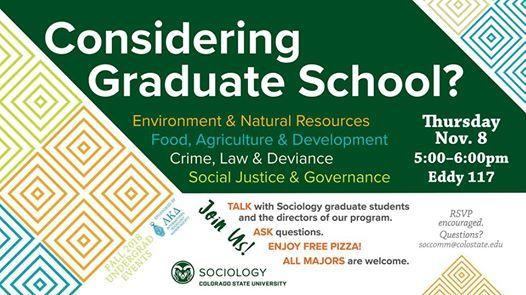 Considering Grad School? at Colorado State University Department of