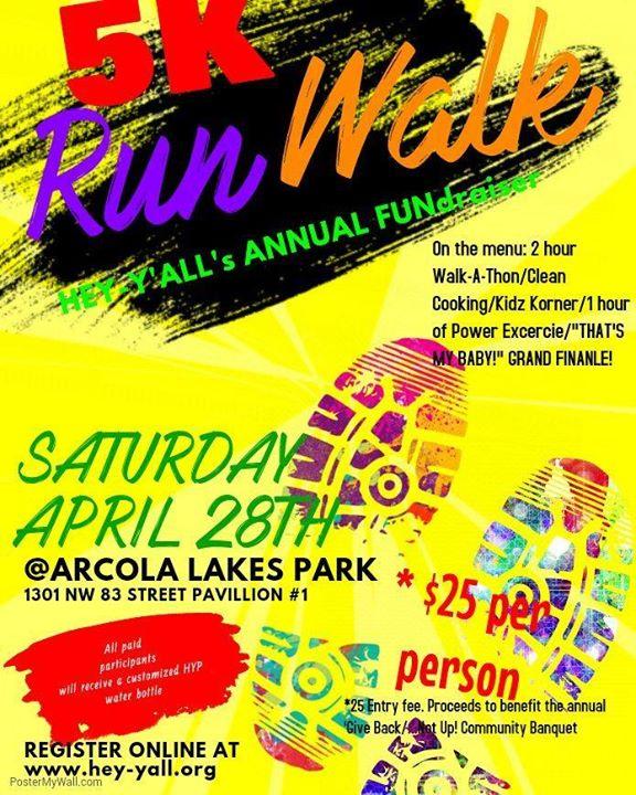 Hyp2bfit Annual FUNdraiser Walkathon at Arcola Park, Miami