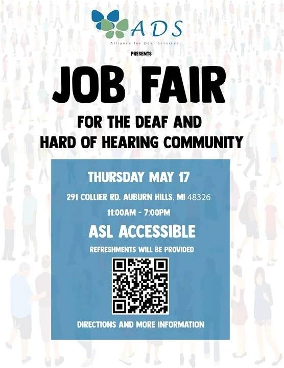 Job Fair- Deaf/Hard of Hearing at 291 Collier Rd, Auburn Hills, MI