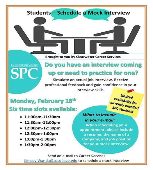 Schedule a Mock Interview at St Petersburg College Clearwater