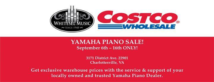 Yamaha Piano Roadshow at Charlottesville Costco Virginia