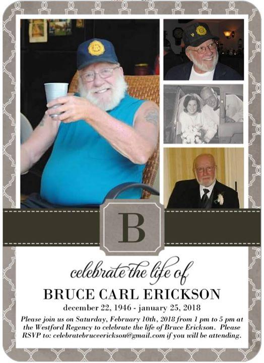 Celebration of Life-Bruce Erickson at Westford Regency, Westford - bruce erickson