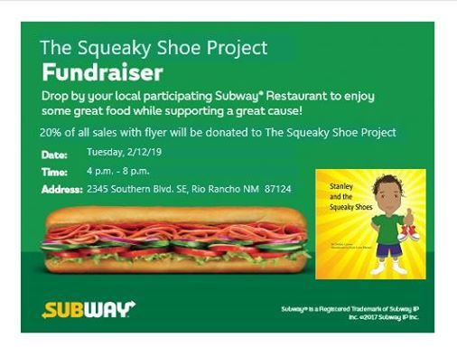 Subway Fundraiser Dinner at Subway2345 Southern Blvd SE, Ste C9