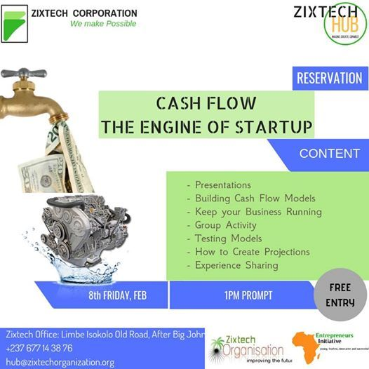 Building Cash Flow for your Business, Startup at Isokolo Old Road
