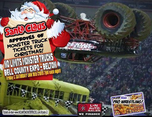 Monster Trucks  Pro Wrestling Bell County Expo Center Jan 19 at