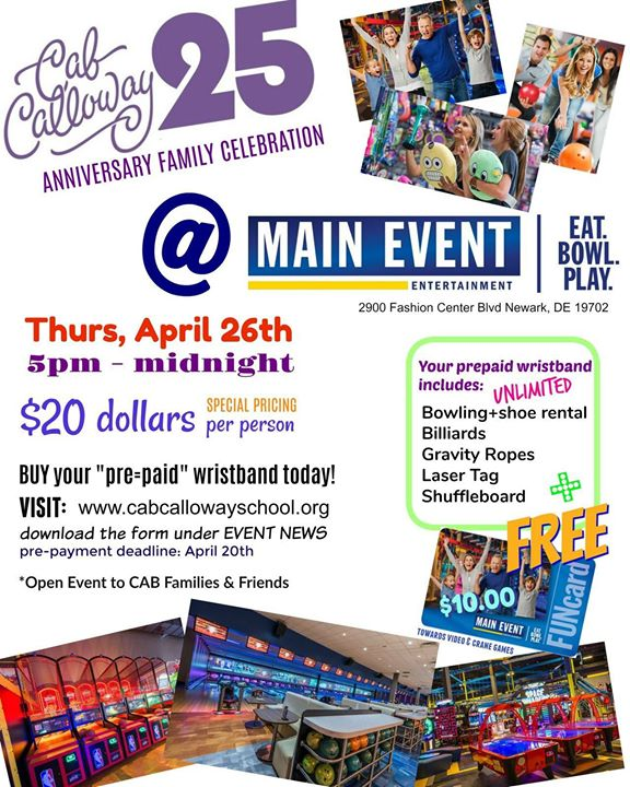 Cab Calloway 25th Anniversary Family Celebration at Main Event 2900