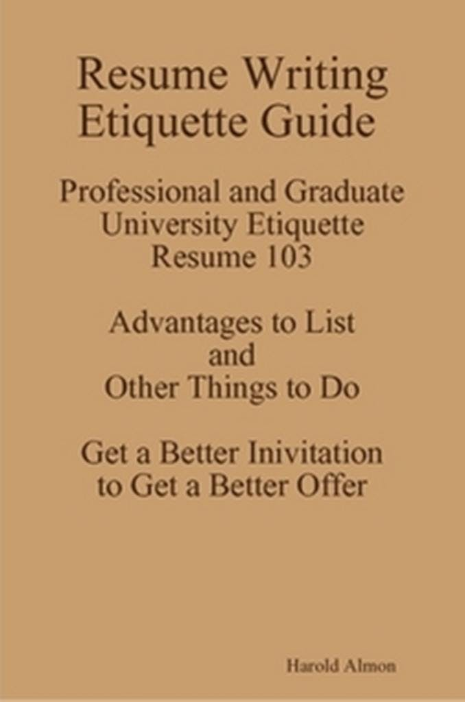 I Teach Resume Writing Etiquette Lessons 512 821-2699 Resume Writing - a better resume service
