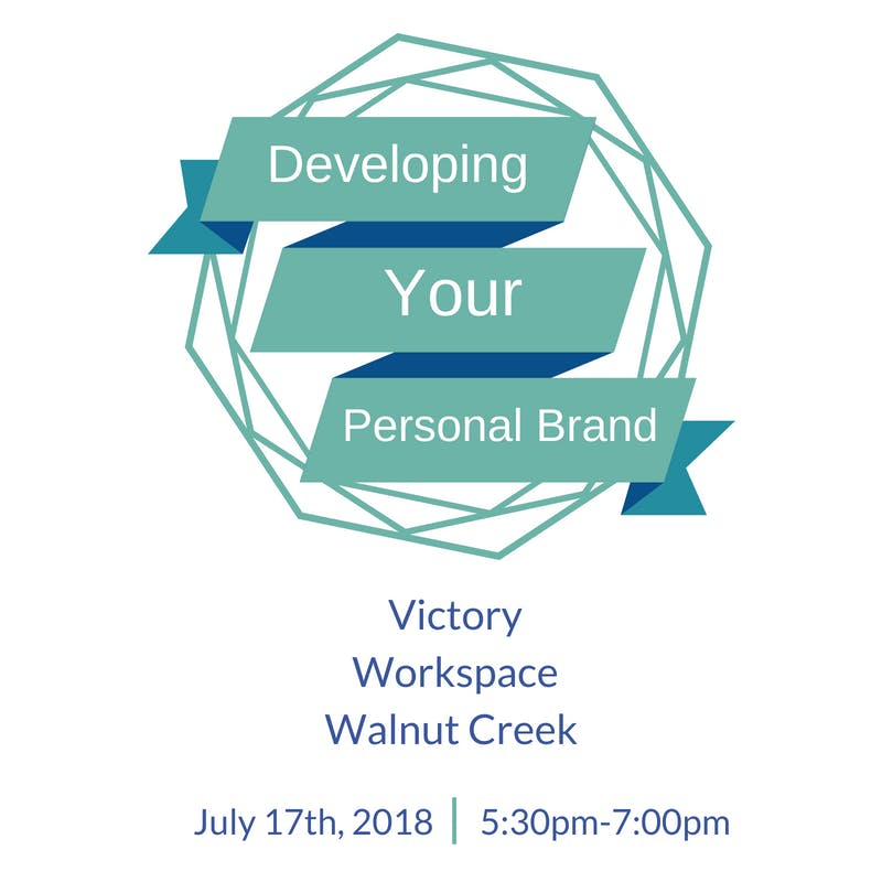 Developing Your Personal Brand at Victory Workspace, Walnut Creek