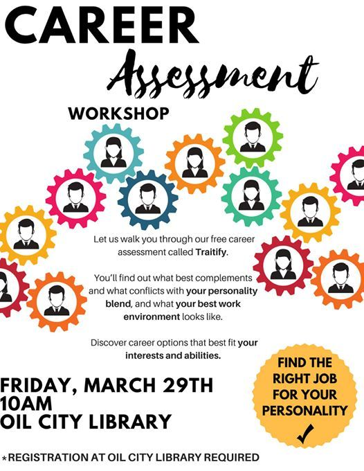 Career Assessment Workshop at Oil City Library, Reno