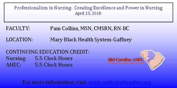 Professionalism in Nursing at Mary Black Health System - Gaffney
