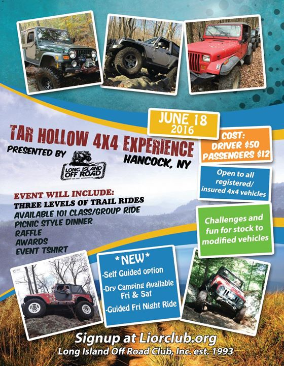 Who Created Calendar Raffle Calendar Tar Hollow Experience By Long Island Off Road At Tar