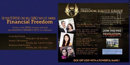 Financial Business Opportunity for Freedom Equity Group at