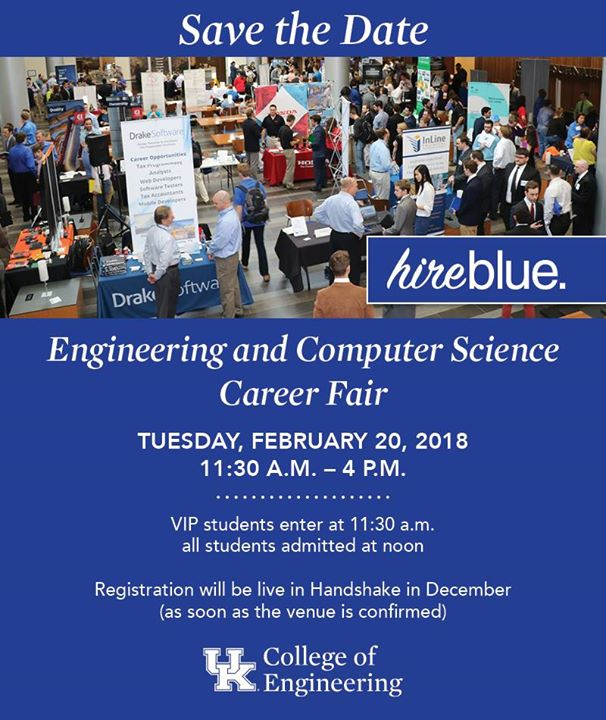 UK Spring 2018 hire blue Engineering and CS Career Fair at Gatton