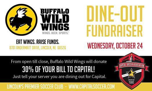 Capital Soccer Dine-out Fundraiser at Buffalo Wild Wings Nebraska