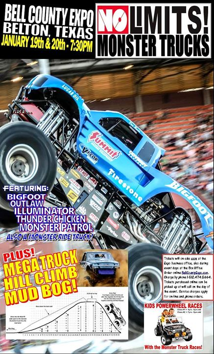No Limits Mega Trucks and Monster Trucks at Bell County Expo Center