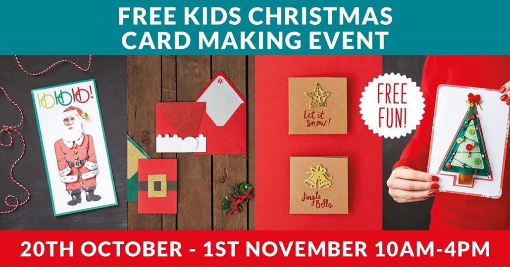 Free Kids Create Your Own Christmas Card Day at Office Outlet Leeds