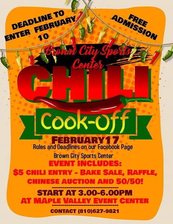 Chili Cook-Off at Maple Valley Event Center, Brown City