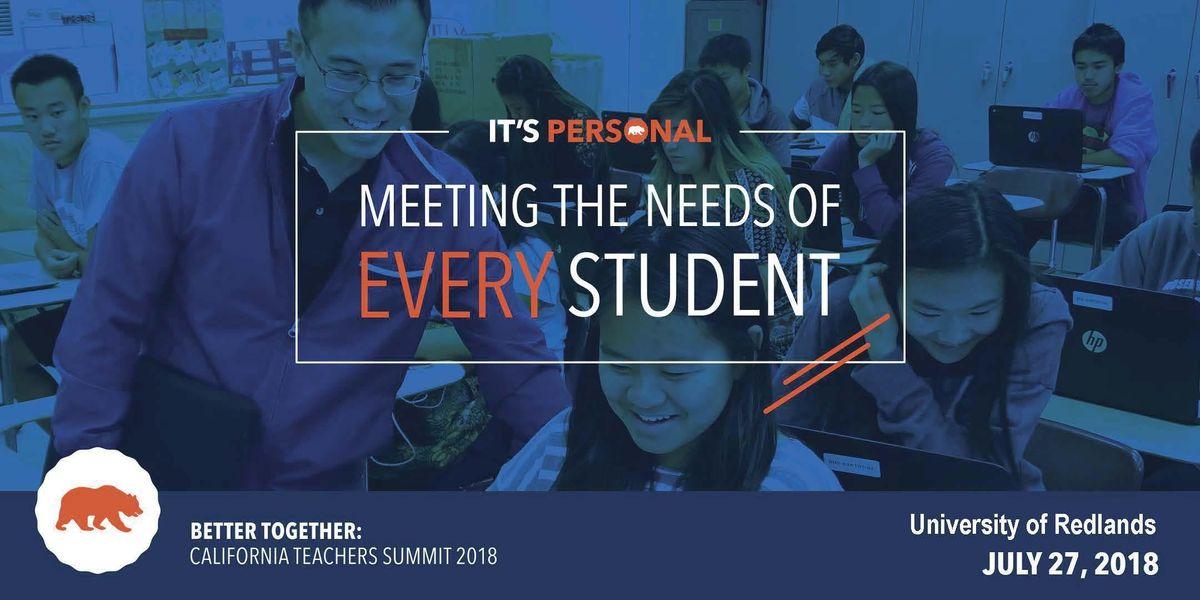 Better Together California Teachers Summit at Lee Pollard High - cnusd