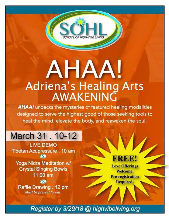 AHAA! Adrienas Healing Arts Awakening at 8030 New La Grange Rd