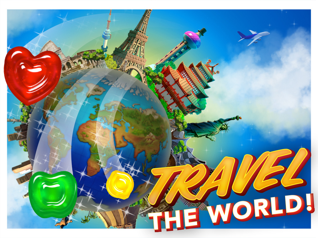 Bigfishgames Gummy Drop Travel The World Play On Ipad Iphone And Android