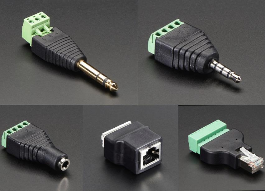 New Products \u2013 Terminal Blocks \u2013 1/4\u2033 (635mm) Stereo Plug
