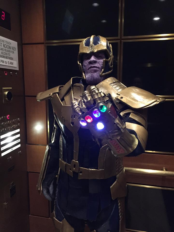 Awesome 3d Art Wallpapers Thanos Cosplay With Glowing Infinity Gauntlet 171 Adafruit