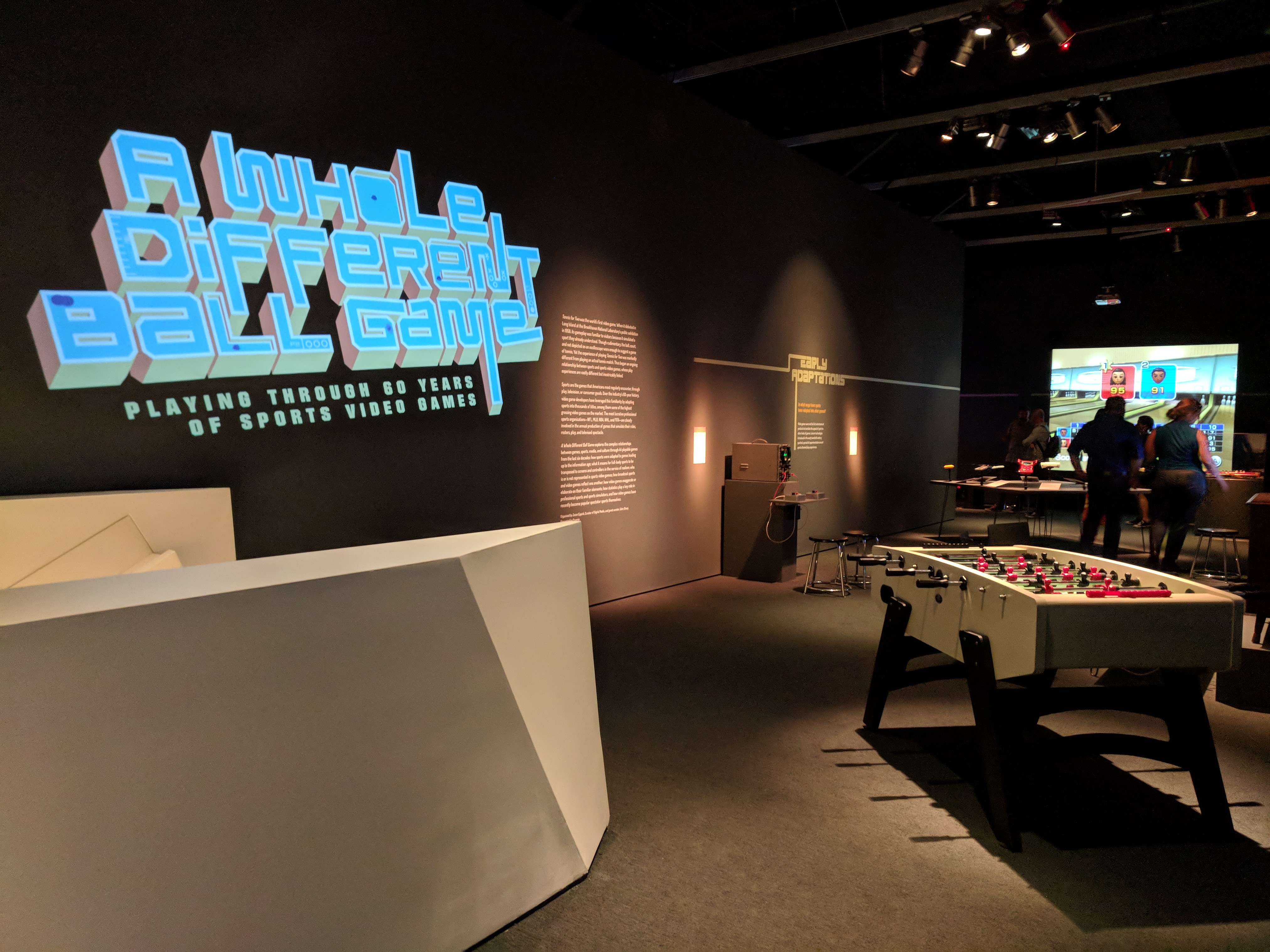 Sedia Bar Sport 60 Years Of Sports Video Games Exhibition At Movingimagenyc Has