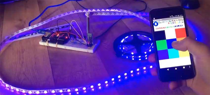 Cómo controlar una tira de LED RGB con el móvil usando Bluetooth y