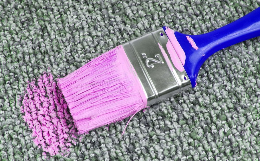 How To Remove Paint From Carpet Radkahairorg Home