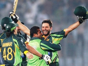 Chasing Bangladesh's highest ever total -- 326, Afridi led Pakistan to a great victory with an 18-ball half-century. PHOTO: REUTERS