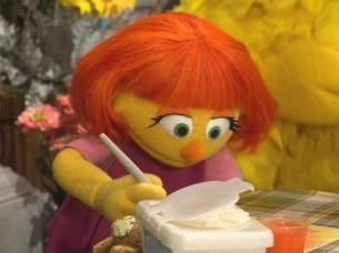 Sesame Street's latest character, Julia, is autistic. PHOTO: AFP