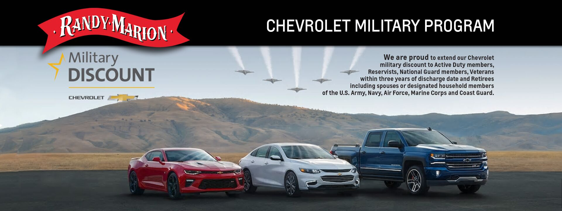 Auto Accessories Garage Military Discount Randy Marion Chevrolet Military Discount Program