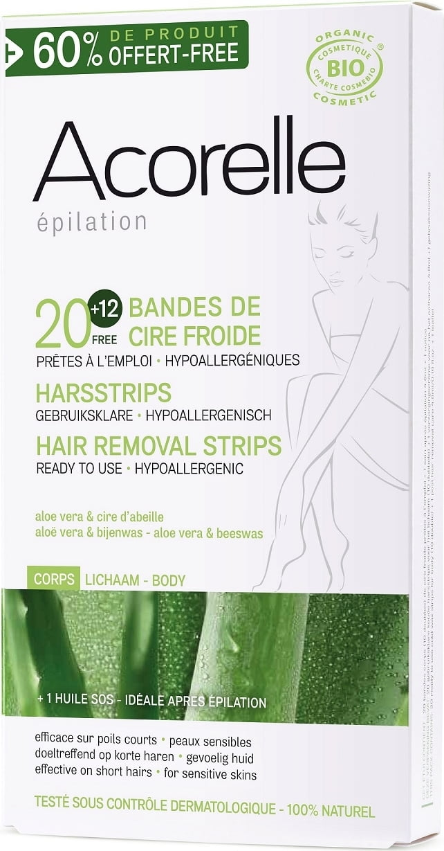 Bijenwas Action Acorelle Cold Wax Strips Body