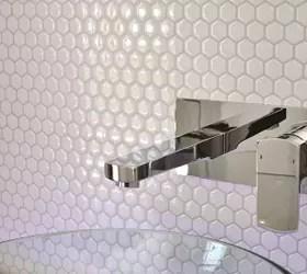 How To Stick Bathroom Wall Panels Peel And Stick Backsplash - Mosaic, Metallic + Glass Tile