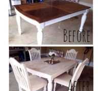 Painting & Staining a Kitchen Table | Hometalk