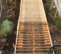 """""""Wood"""" Concrete Walkway"""