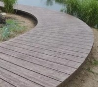 """Wood"" Concrete Walkway"