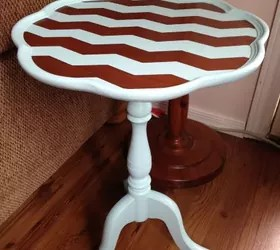 Chalk Painting Chevron To A Wood Table Hometalk
