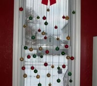 DIY Christmas window decoration