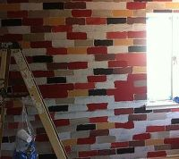 How to Make a Faux Brick Wall Using Paint | Hometalk