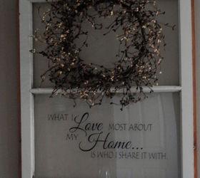 Repurposed Old Window to Shelf Decoration