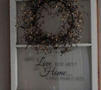 Repurposed Old Window to Shelf Decoration | Hometalk