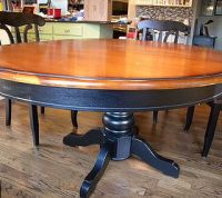 Kitchen Table and Chair Makeover With Stain and Paint ...