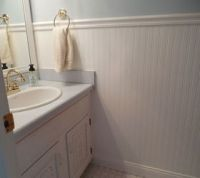 Should I continue floor tile up to chair rail height in ...