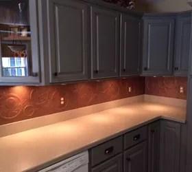 Diy Kitchen Copper Backsplash Hometalk