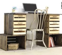DIY Crate Desk   Hometalk